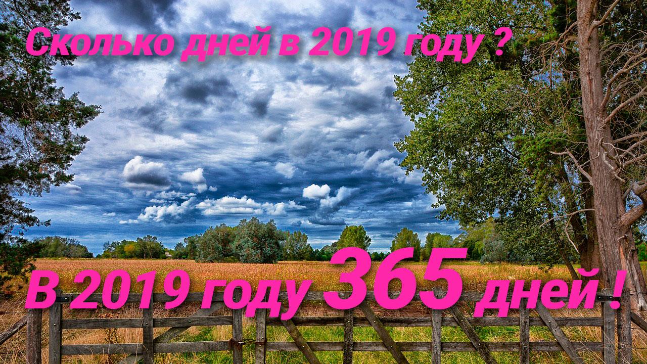 Смотреть Сколько дней в 2019 году? 2019 - високосный или нет? видео